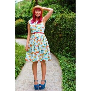 Modcloth Fervour You're in Luck Pie Print Dress